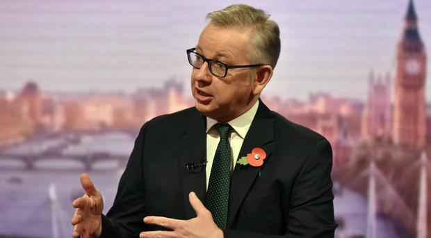 Michael Gove staunchly defended Foreign Secretary Boris Johnson (Jeff Overs/BBC/PA)