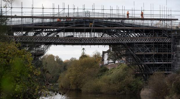 Ironwork is cracking on the Iron Bridge (Aaron Chown/PA)