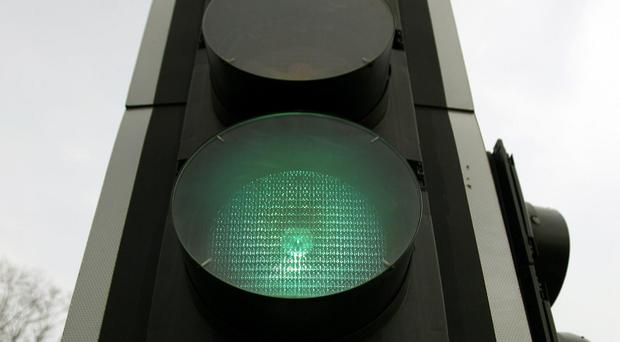 Traffic lights will be trialled on the motorway (Dominic Lipinski/PA)