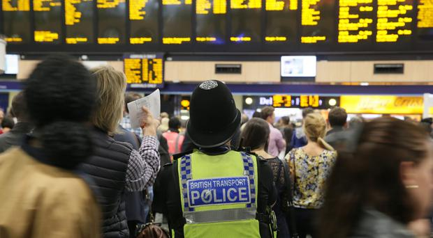 The dealer told officers he had boarded the 7.03pm service at Euston to travel to Birmingham New Street (PA)