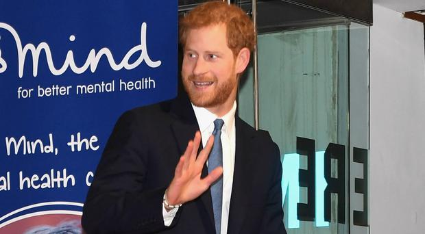 Prince Harry arrives at the Mind Media Awards (Stuart C Wilson/PA)