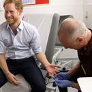 Prince Harry has had blood taken for an HIV test before (PA)