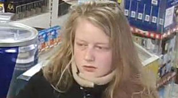Gaia Pope seen on CCTV less than an hour before she disappeared (Dorset Police/PA)