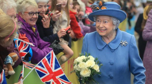 The Queen arrives at Hull Railway Station (Danny Lawson/PA)