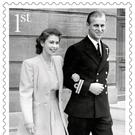Some of the Royal Mail's new stamps commemorating the 70th wedding anniversary of the Queen and the Duke of Edinburgh