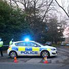 Police at the scene near Waddesdon, in Buckinghamshire (Aaron Chown/PA)