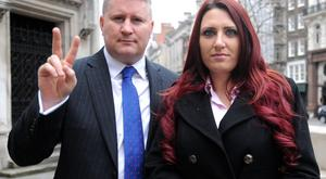 Paul Golding, leader of Britain First, and the party's deputy leader, Jayda Fransen. (Nick Ansell/PA)