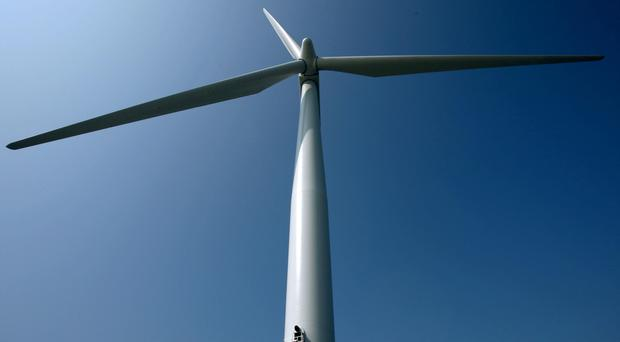 'The wind farm will see 10 turbines, each 125 metres tall, being built at Curraghamulkin in Co Tyrone' (stock photo)