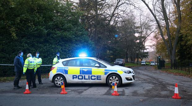 Police at the scene near Waddesdon in Buckinghamshire (Aaron Chown/PA)