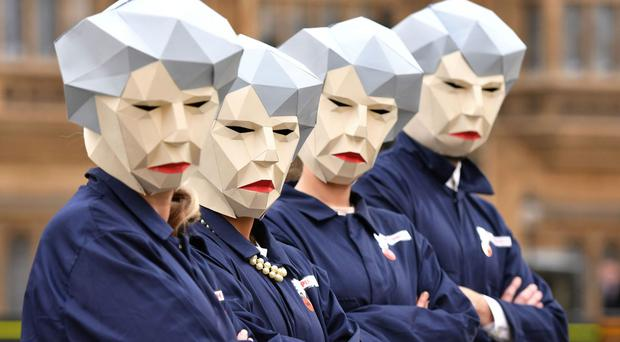 Maybots on Budget day at Westminster (Dominic Lipinski/PA Wire/PA Images)