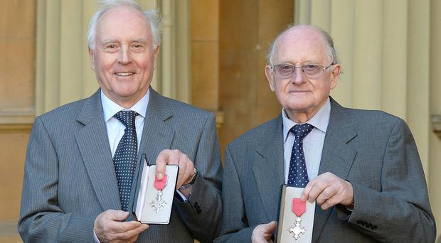 Alan and Brian Stannah at Buckingham Palace (John Stillwell/PA)