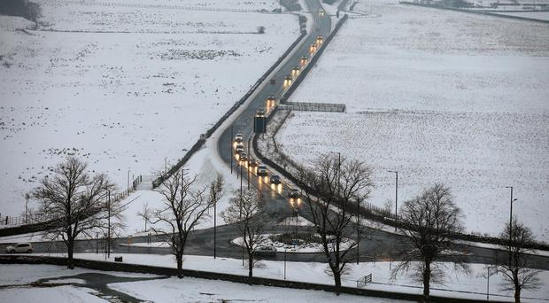 The Met Office has issued a yellow weather warning, with ice and set to hit the province over the weekend.