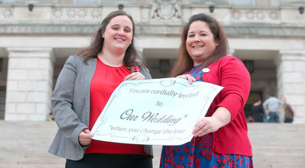 Laura McKee and Jayne Robinson want to marry in Northern Ireland