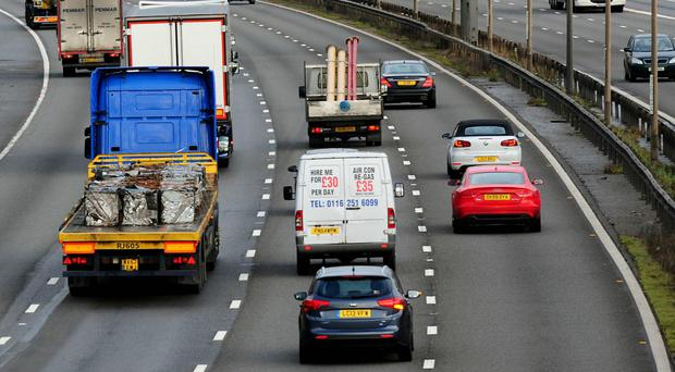 Researchers analysed footage from the M40, M25, M4, M3 and M12 motorways (Rui Vieira/PA)