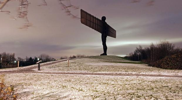 The Angel of the North after last week's snowfall (Owen Humphreys/PA)