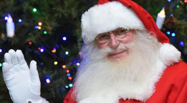 Ron Horniblew, 82, the UK's longest-serving Santa (Joe Giddens/PA)