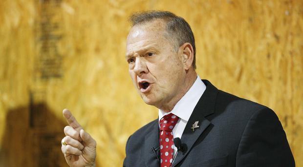 Alabama Chief Justice and U.S. Senate candidate Roy Moore speaks at a campaign rally (Brynn Anderson/AP)