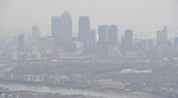 Air pollution over London (PA)