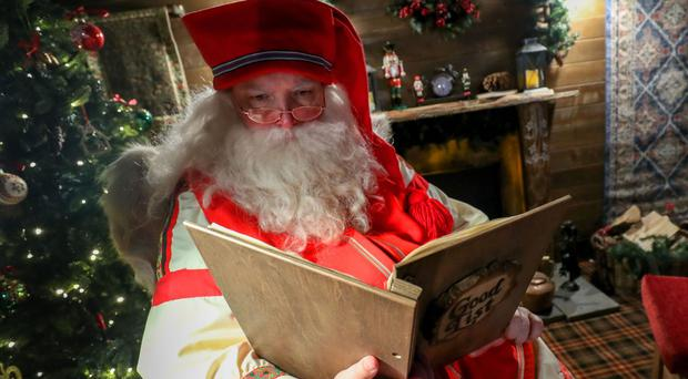 Father Christmas at LaplandUK in Berkshire (Andrew Matthews/PA)