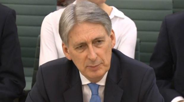 Philip Hammond appears before the Treasury Select Committee (PA)