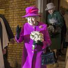 The Queen outside St Mary's Church in London (Victoria Jones/PA)