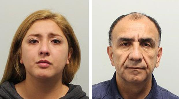 Gissella Caceres Diaz and Flores Valenzuela, who were jailed for £25,000 worth of airport thefts (Metropolitan Police/PA)