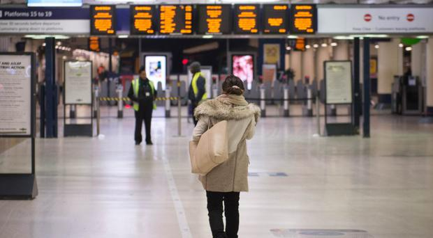 Services were delayed from London's Victoria Station (Stefan Rousseau/PA)