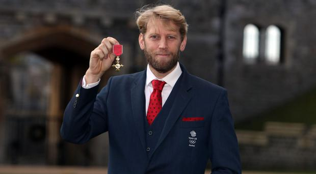 Andrew Triggs Hodge at Windsor Castle (Steve Parsons/PA)