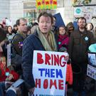 Richard Ratcliffe during a rally calling for his wife's release (Jonathan Brady/PA)