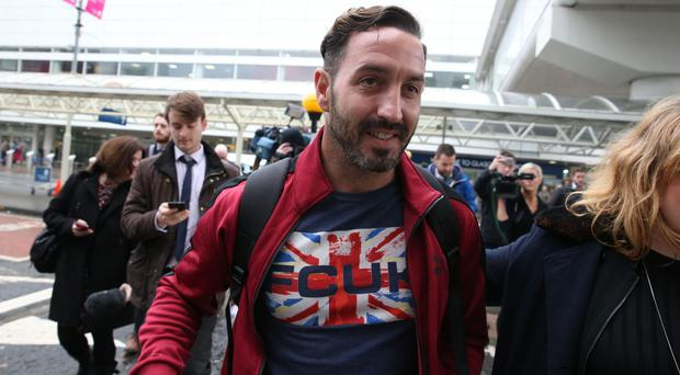 Billy Irving arrives at Glasgow Airport (Andrew Milligan/PA)