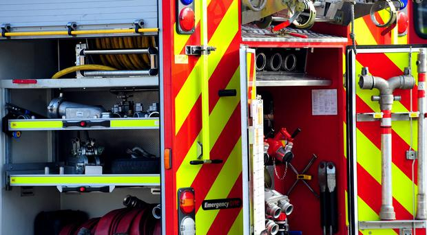 Fire crews are at the scene in Allington Drive, Birstall (PA)