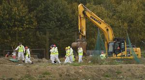 Police have been combing a landfill site in Milton, Cambridgeshire ( Joe Giddens/PA)