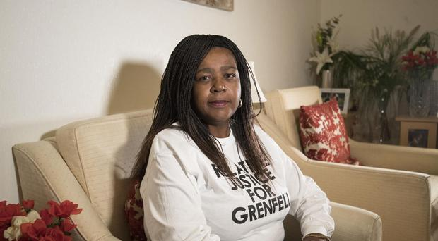 Clarrie Mendy, whose cousin Mary Mendy and Mary's daughter Khadija Saye died in the Grenfell Tower fire, at her home in London (Victoria Jones/PA)