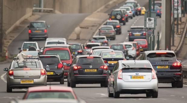 Motorways expected to have the worst hold-ups include the M25 anti-clockwise, M1 in both directions and M6 southbound (Dominic Lipinski/PA)