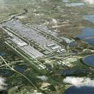 An artist's impression showing how Heathrow airport could look with a third runway (Heathrow Airport/PA)