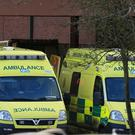 Ambulances outside Lincoln County Hospital (Lynne Cameron/PA)