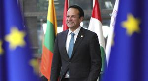 Leo Varadkar arriving for the EU summit in Brussels (Olivier Matthys/AP)