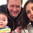 Richard Ratcliffe with his wife and daughter (Family handout/PA)