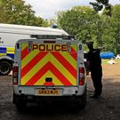 Police at Flamefest festival in August (Gareth Fuller/PA)