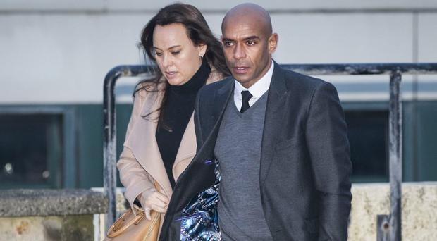Trevor Sinclair arrives at Blackpool Magistrates' Court (Danny Lawson/PA)
