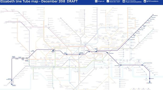The inclusion of the purple line is one of the most significant updates to the map in decades (Transport for London/PA)