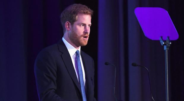 Prince Harry has called for increased efforts to eradicate landmines (Stuart C Wilson/PA)