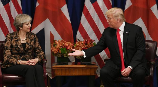 Theresa May met with Donald Trump for talks at the Lotte Palace Hotel, New York (Stefan Rousseau/PA)