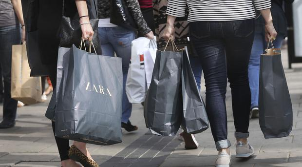 Consumer confidence has fallen, according to a report (Philip Toscano/PA)