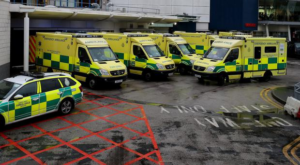 The number of ambulance delays of more than 30 minutes went up by a fifth compared to the previous week (PA)