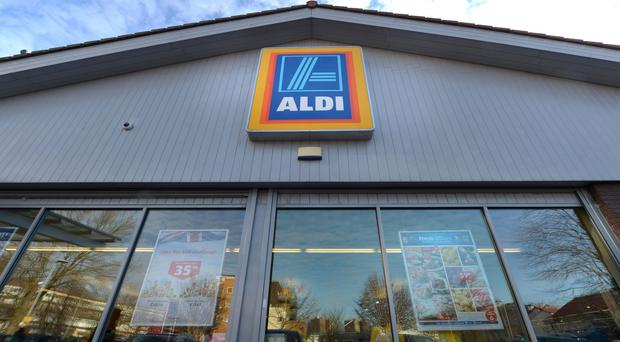 The attack happened in front of shoppers at Aldi in Skipton (PA)