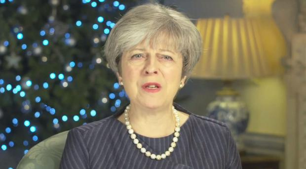 Prime Minister Theresa May wished members of the armed forces a happy Christmas (10 Downing Street/PA)
