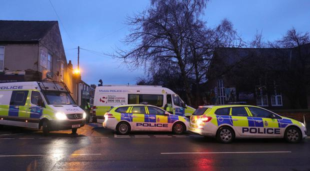 The scene during this week's terror raids in Chesterfield (Aaron Chown/PA)