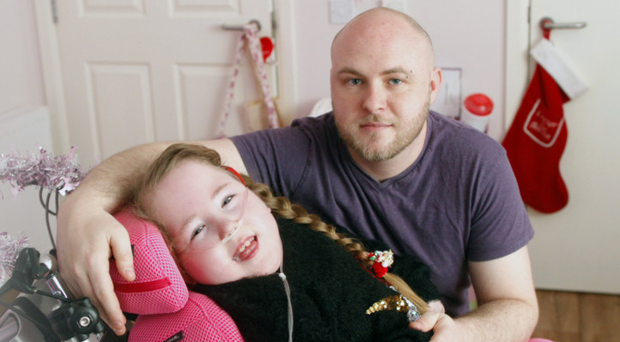 Dad Ciaran with his daughter Cora