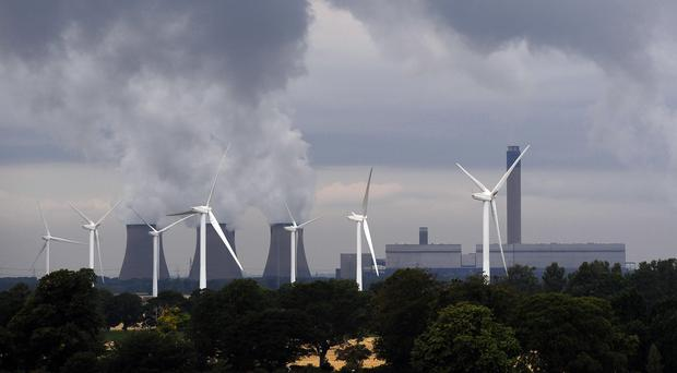Wind farms outperformed coal plants for most of 2017 (John Giles/PA)